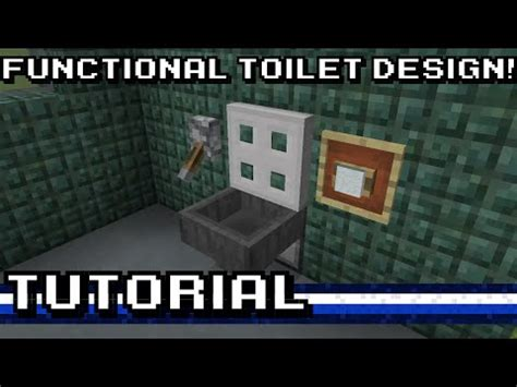 functional pattern youtube minecraft functional toilet tutorial youtube