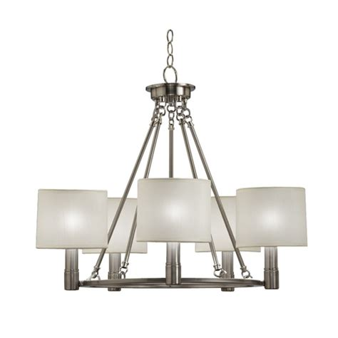 5 light brushed nickel chandelier lighting