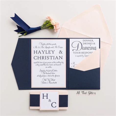 Wedding Invitations Navy by 17 Best Ideas About Navy Wedding Invitations On