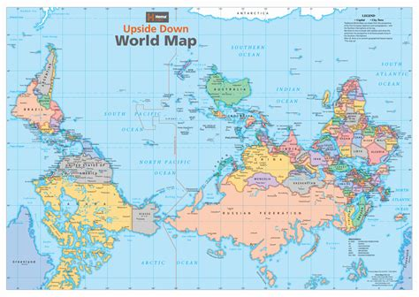 Australia Map Of The World by Australia Upside Down World Map Buy Upside Down World