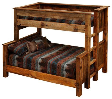 Rustic Wood Bunk Beds Barnwood Beds Barnwood Bunk Beds Rustic Beds By Mybarnwoodframes