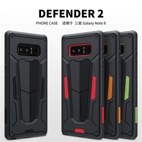 for samsung note 8 nillkin defender ii heavy duty armor back cover for samsung galaxy note8 note
