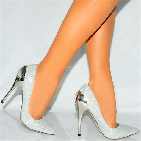 high heel truffle sal4 silver high heels truffle from shoe