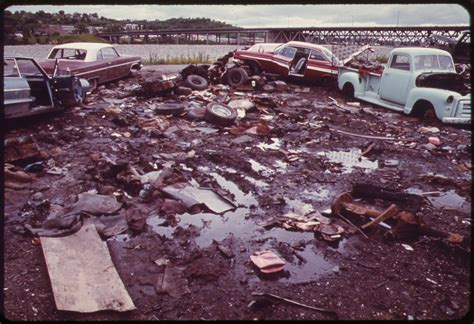 the junkyard file automobile junkyard on the bank of the kansas river between the 12th and
