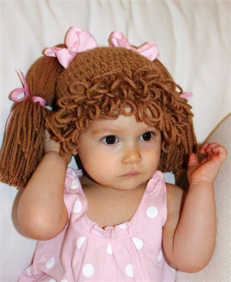free crochet cabbage patch hair baby hat 25 best ideas about cabbage patch hat on pinterest