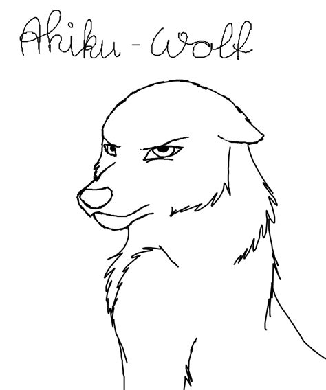 template simple wolf and lineart angry wolf free by ahikuwolf on deviantart