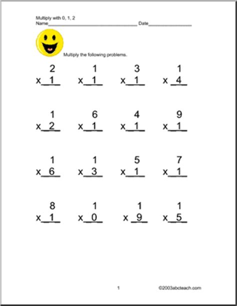 multiplication worksheets 0 2 worksheet multiplication by 0 1 and 2 abcteach