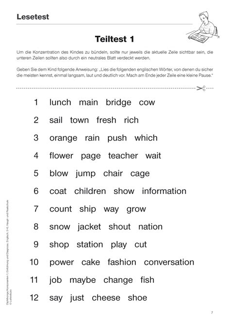 sekundarstufe  unterrichtsmaterial englisch lese