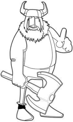 viking cartoon coloring page vikings pinterest the o viking cartoon coloring page homeschool pinterest