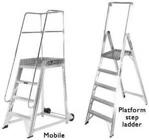 types of ladders platform ladders