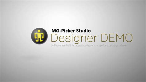 mg studio mg picker studio features demo designer