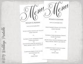 diy wedding menu template 8 best images of printable dinner menu templates