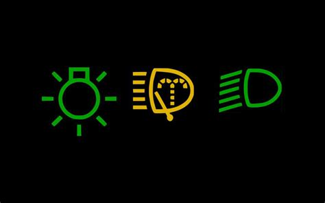 beleuchtung symbole auto kontrollleuchten auto fahrschule afdecker