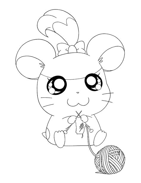 coloring page hamtaro coloring pages 85