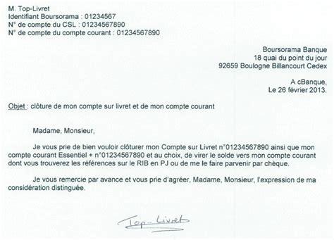 Lettre De Cloture Free Modele Lettre Cloture Livret A Document