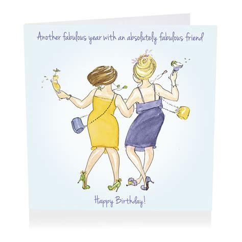 absolutely fabulous friend happy birthday card karenza