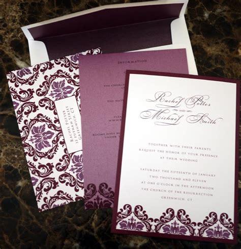 aubergine pocketfold wedding invitations eggplant wedding invitations sunshinebizsolutions