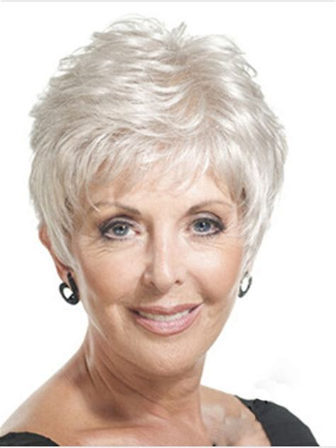 shoo for hair over 50 women over 50 short pixie grey wigs for women over 50