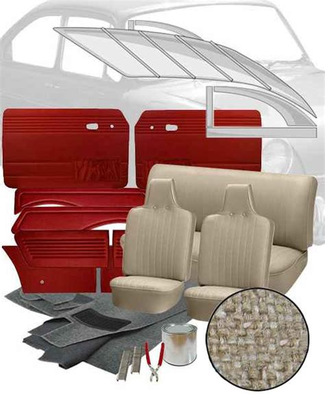 Vw Interior Kits by Deluxe Velour Cloth Vw Interior Kit Notchback 1968 1969