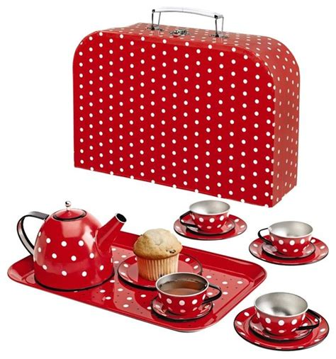 Polka Kid Set polka dot tin tea set modern toys and by