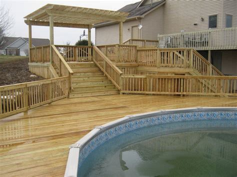 wood pool deck wood deck plans free