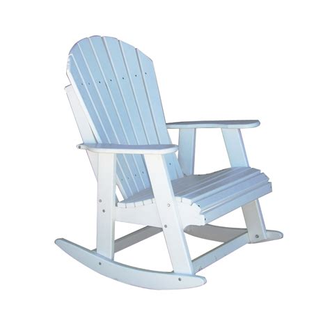 white outdoor rocking chair shop alpine white wood slat seat outdoor