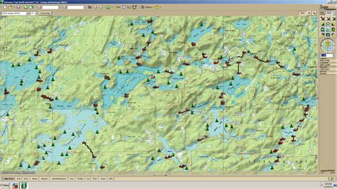 boundary waters map boundary waters map with portages