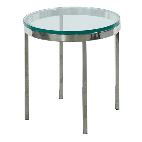 Glass End Tables Used Glass End Table Chrome National Office Interiors And Liquidators