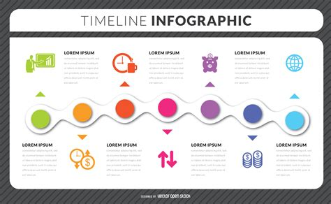 timeline infographic template timeline infographic template vector