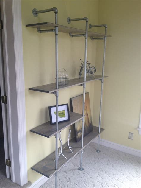 galvanized pipe industrial shelving homes and interiors