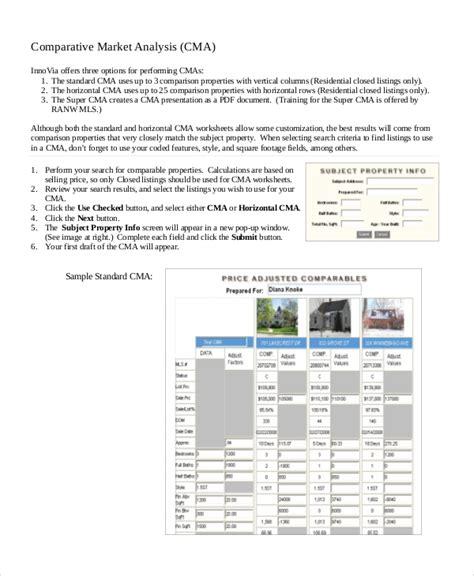 8 Market Analysis Sles Pdf Word Sle Templates Comparative Market Analysis Template 2