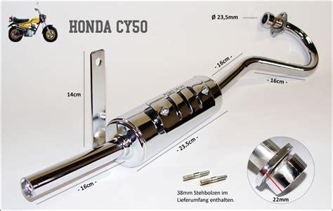 Auspuff Motorrad Leistung by Auspuff Honda Cy 50 Chrom Sportauspuff Verchromt