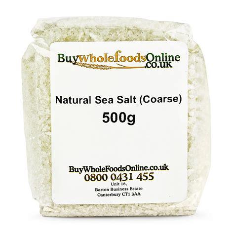 Sea Salt Coarse 250g sea salt coarse 500g