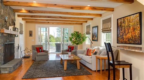great room addition  rustic wood beams  wilton ct