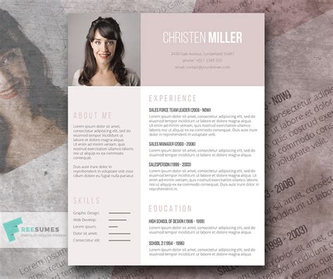 Resume Layout For First Job by Free Resume Template For The Ladies The Vintage Rose