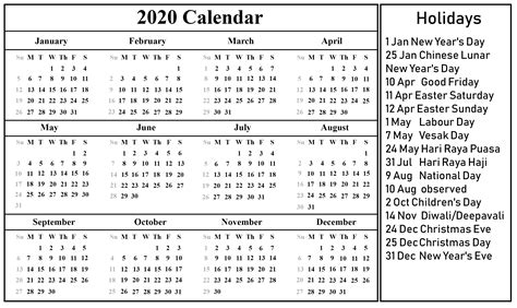 blank singapore calendar    excel word format