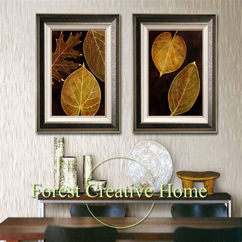 gold leaf home decor modern gold leaf canvas paintings art wall picture oil