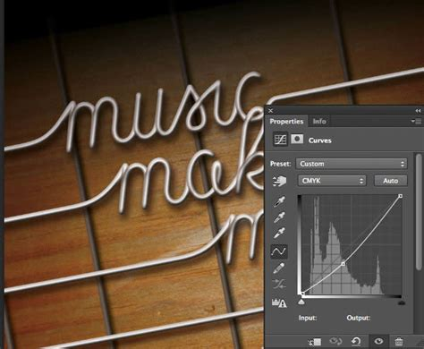 typography guitar tutorial use photoshop and illustrator to create guitar string