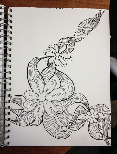 flower doodle drawings flower doodle addicted