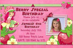 New Strawberry Shortcake Birthday Invitations Thank You Cards Ebay Strawberry Shortcake Invitation Template Free