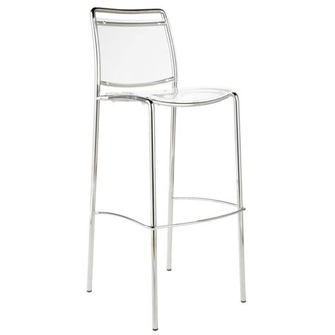 Clear Stool by Stefie Bar Chair Clear Chrome Bar Stools