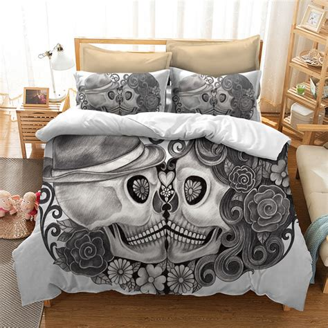 king size skull bedding fanaijia skull bedding set for king size bed europe style