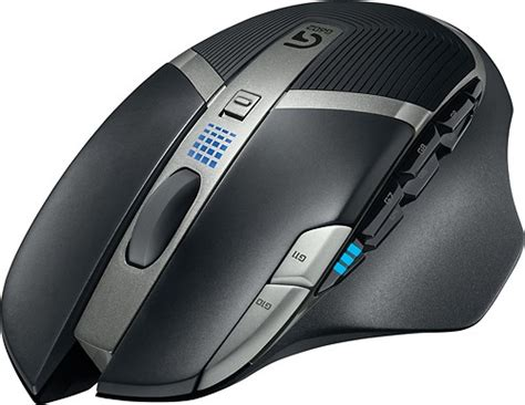Mouse Gaming Wireless Logitech logitech g602 wireless optical 11 button scrolling gaming mouse black 910 003820 best buy