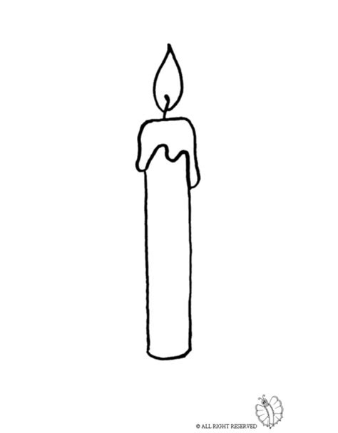 Coloring Page Of Lit Candle For Coloring For Kids Candle Coloring Page