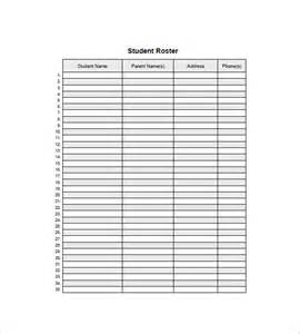 class list template 15 free word excel pdf format