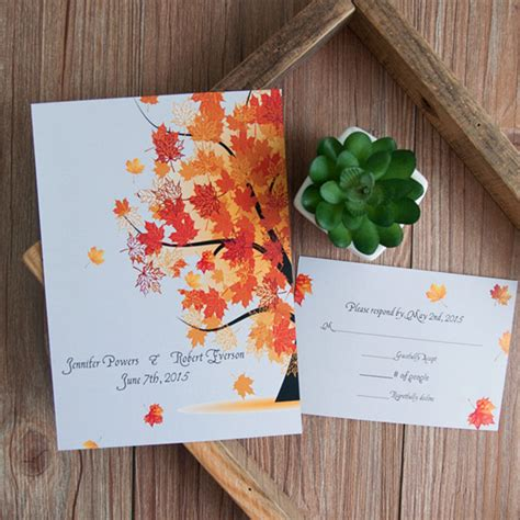 Autumn Wedding Invitations by New Released Fall Wedding Invitations For Autumn Brides 2015