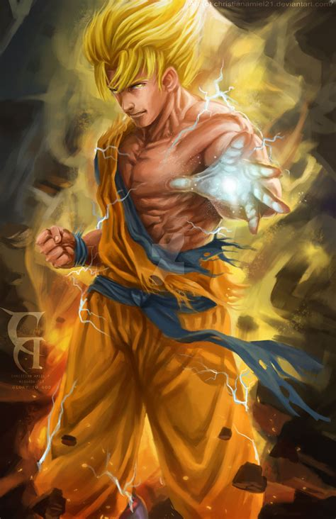 painting goku goku fan by christianamiel21 on deviantart