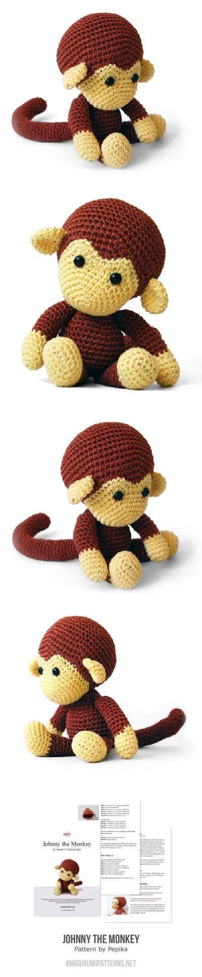 amigurumi pattern johnny the monkey johnny the monkey amigurumi pattern by pepika amigurumi