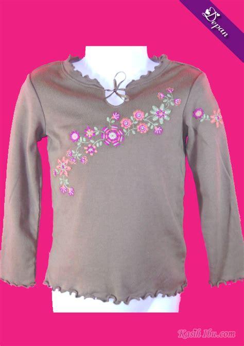8 10 Tahun Baju Anak Lengan Panjang Oshkosh Bgosh Premium Wing baju coklat lengan panjang bersulam kasih ibu koleksi