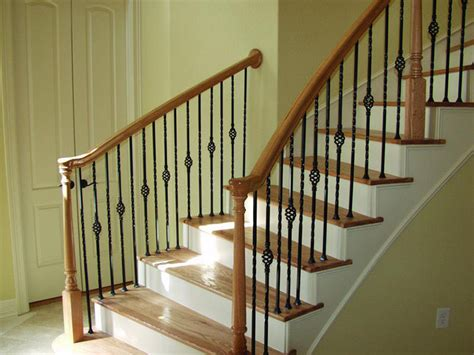 Stairway Banisters by Build Wood Handrail New Design Woodworking